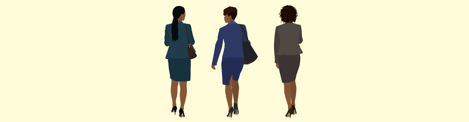 Black business Women Walking Away